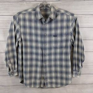 GUESS JEANS Men Plaid Long Slv Button Front Shirt